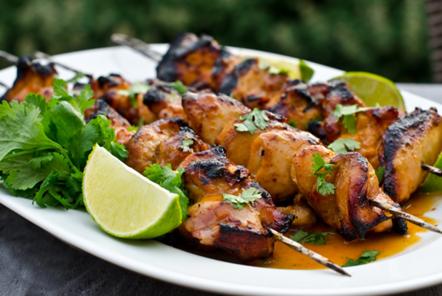 Lemon Grass and Turmeric Chicken Skewers
