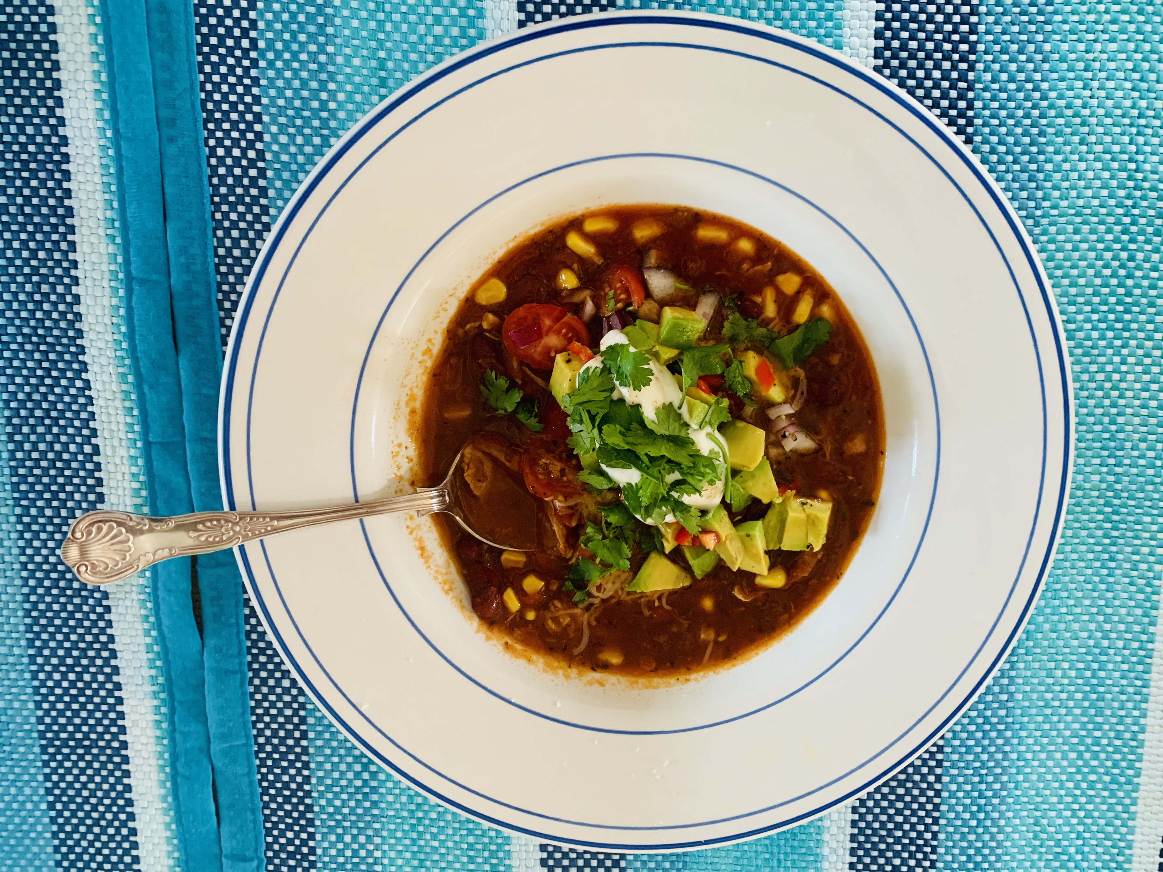 Spicy Mexican Chicken and Corn Soup - Image 3