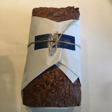 The perfect loaf lovingly wrapped and tied. A little effort lifts the spirits more than words can say #schoon #bread #wrapped #gift #maricha360 #friendship #coffee #bakery #bakingbread #wrapped #brightstreet
