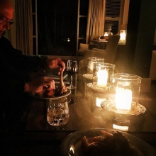 Coping with load shedding.. taking candlelight dinner to a new level! Only in SA does a service provider give less and charge more!