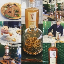 """Franschoek never disappoints and a quick trip to """"do"""" lunch dispels the chills. First stop a Gin and Tonic tasting at the recent launched Symmetry a botanical laboratory. Wow"""