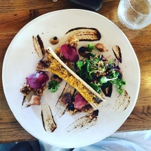 For starters, marrow bone, sweetbread, pickled tongue. Perfection #franschoek #food #foodie #friends #lunch #summer #salad #starters #maricha360