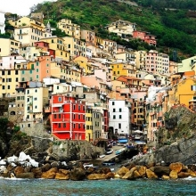 Think Cinque even on a cloudy day it's breathtaking #cinqueterre #italy #worldheritagesight #landscape #maricha360 #villagelife #summerinitaly #summer #italybyboat #holiday #italianvacation