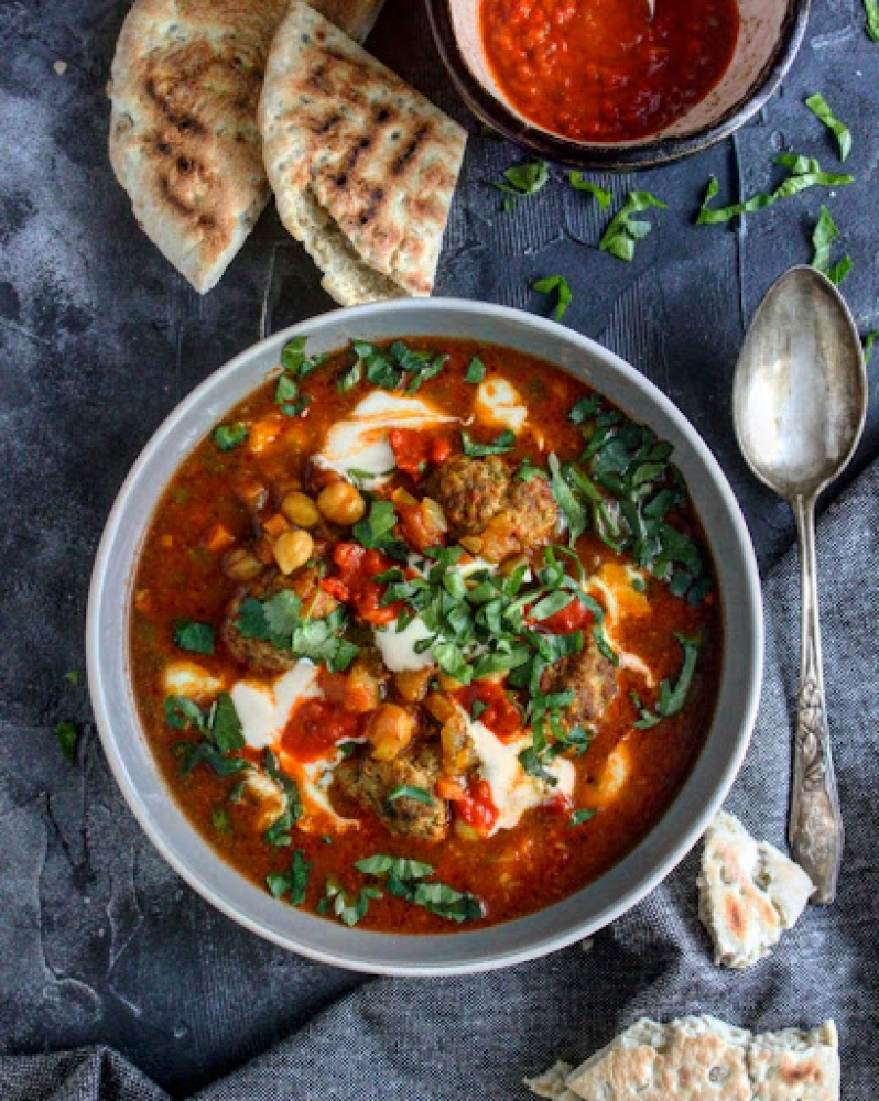 Weekend Inspiration - Moroccan Soup With Spicy Beef Meatballs
